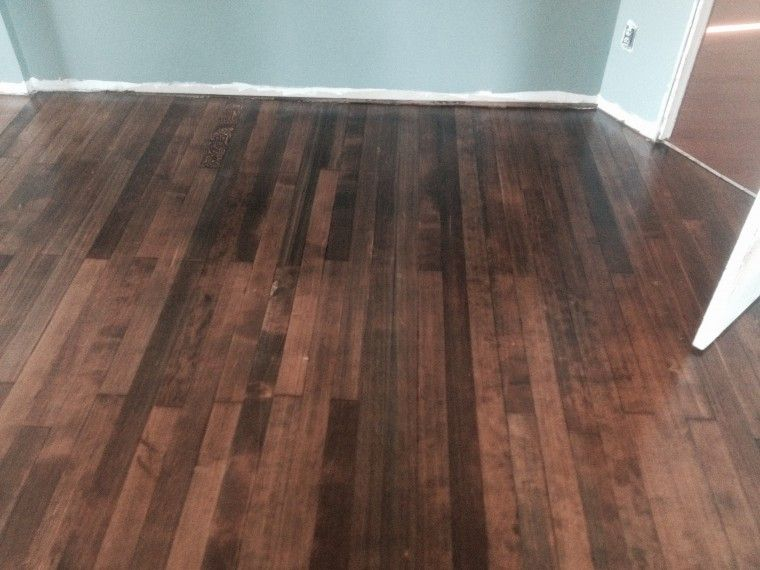 This Fir Floor Was Stained With Dura Seal Spice Brown And