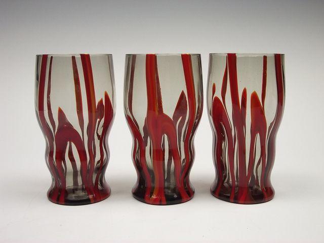 Kralik 'Bambus' glass tumblers36 by art-of-glass, via Flickr