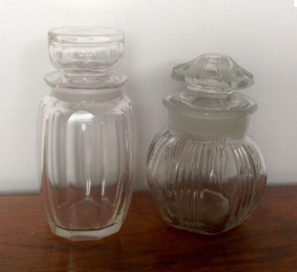 Decorative Jars Soldvintage Decorative Glass Storage Jars  Vintage Kitchenalia
