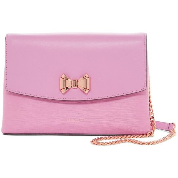 Ted Baker London Curved Bow Crossbody Bag ($88) ❤ liked on Polyvore ...