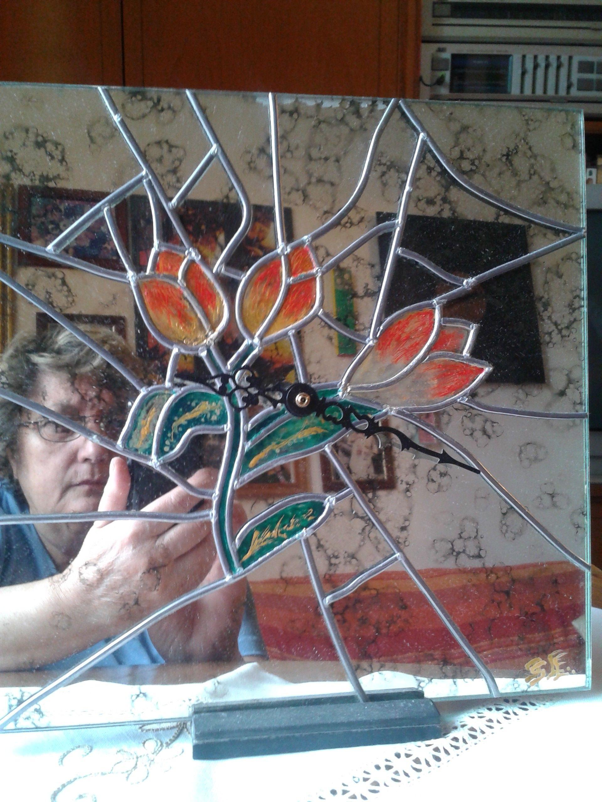 Orologio specchio antichizzato finto tiffany eliana sturla pinterest - Specchio antichizzato ...