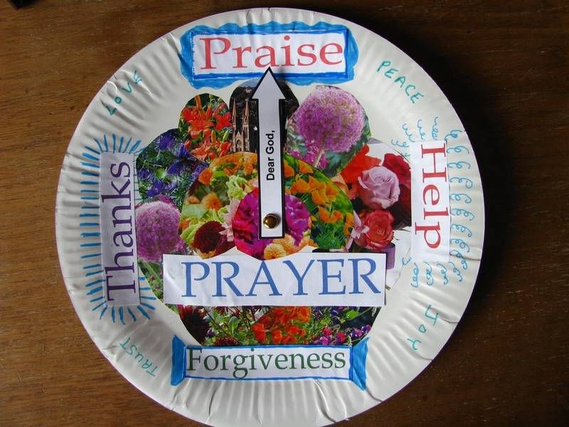 Prayer Plate-they spin it and that's what they pray for. Makes it fun.
