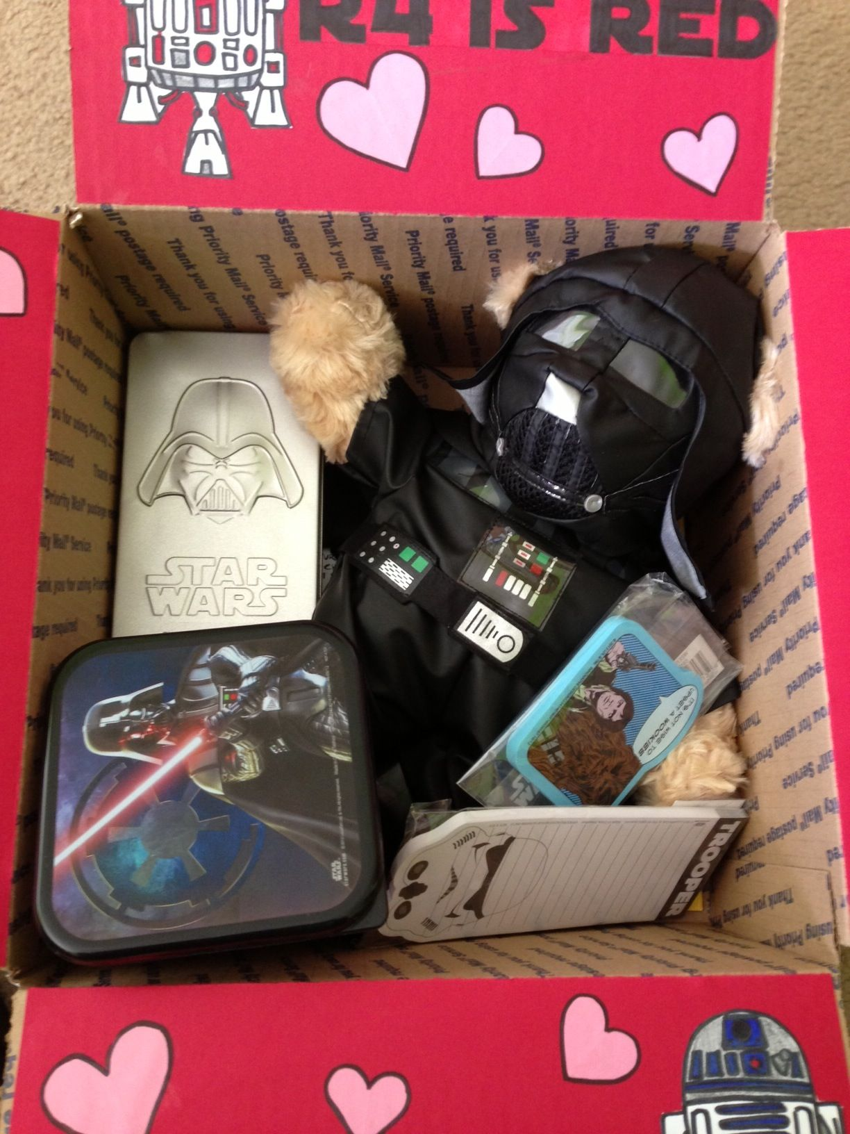 Star Wars Valentineu0027s Day Care Package. Most Of The Goodies Came From  Target.