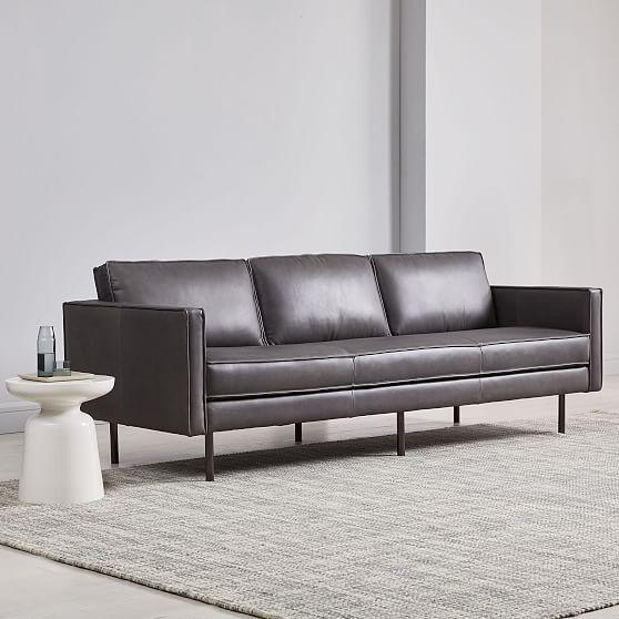 axel 89 sofa aspen leather fog in 2019 products leather sofa rh pinterest com