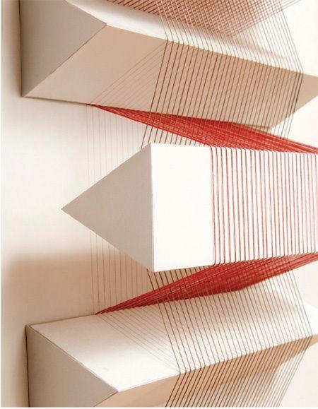 Irving harper abstract paper art cuerdas maquetas y hilo - Persianas esparza ...