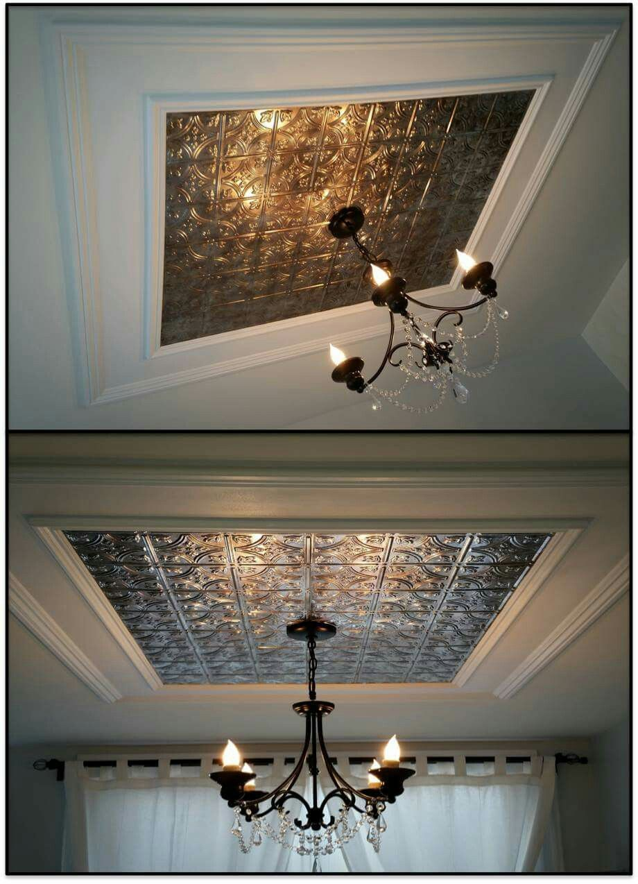 faux metal ceiling decor shabby chic fancy expensive looking rh pinterest com