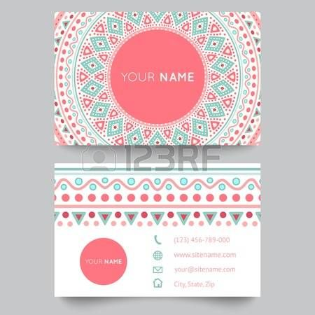 Business card template blue white and pink beauty fashion pattern business card template blue white and pink beauty fashion pattern vector design editable trible fbccfo Images
