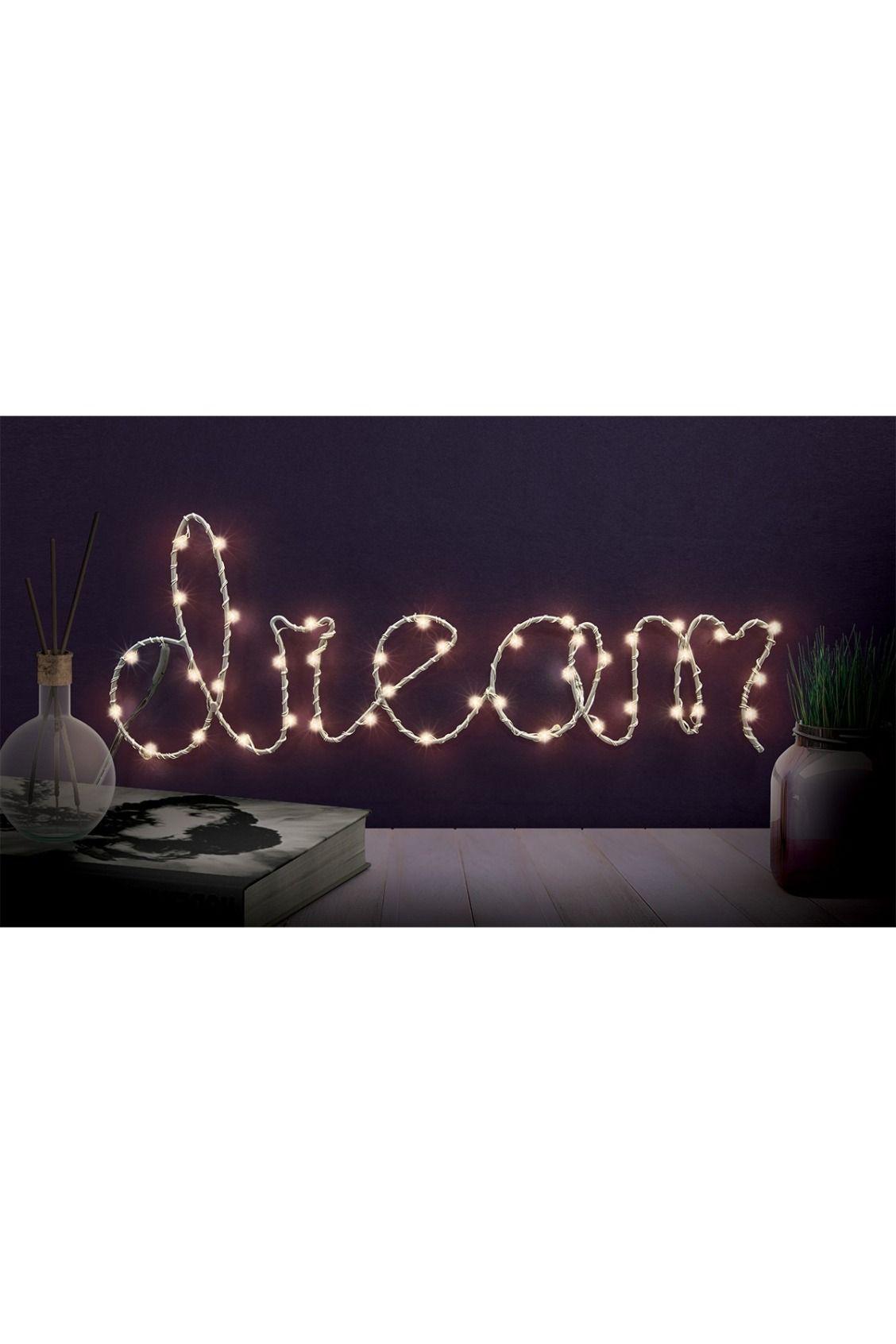 LED lights trace an illuminated Dream word