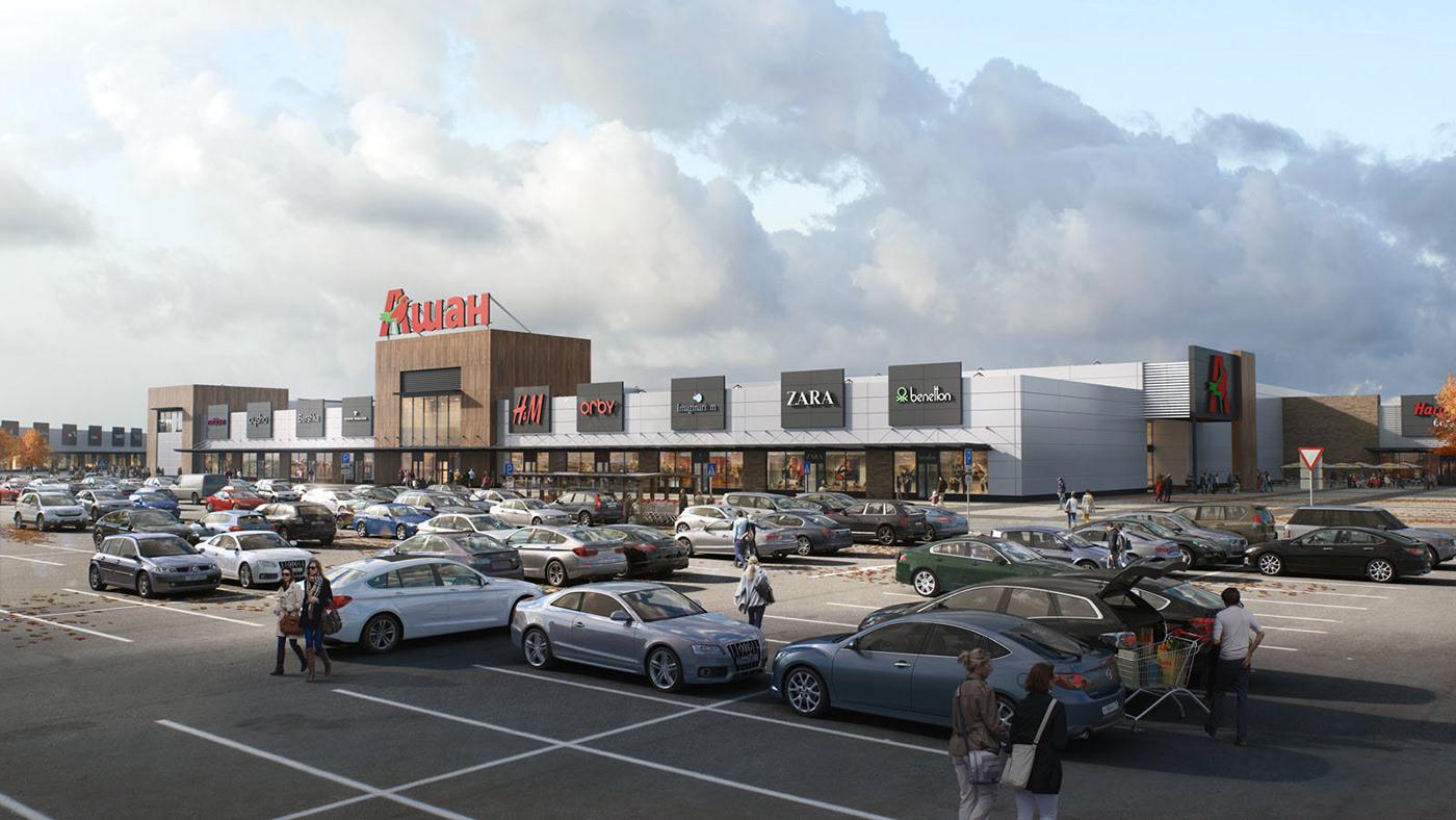 Retail Park Project On Behance Park