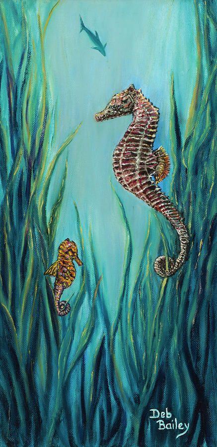 Seahorse Refuge By Debra Bailey Seahorse Painting