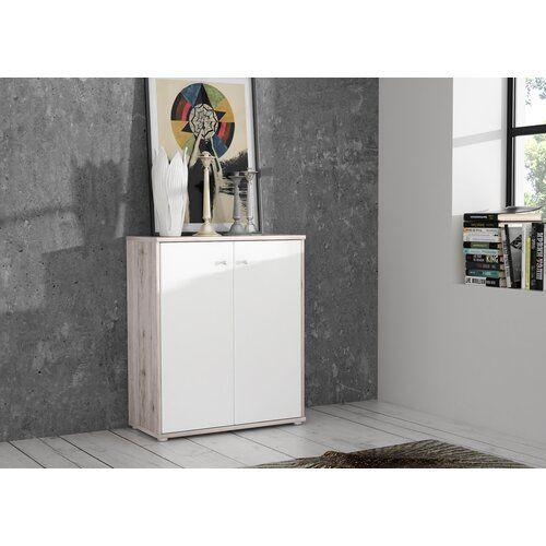 Kommode Ebern Designs Farbe Sandeiche Mit Weissen Elementen In