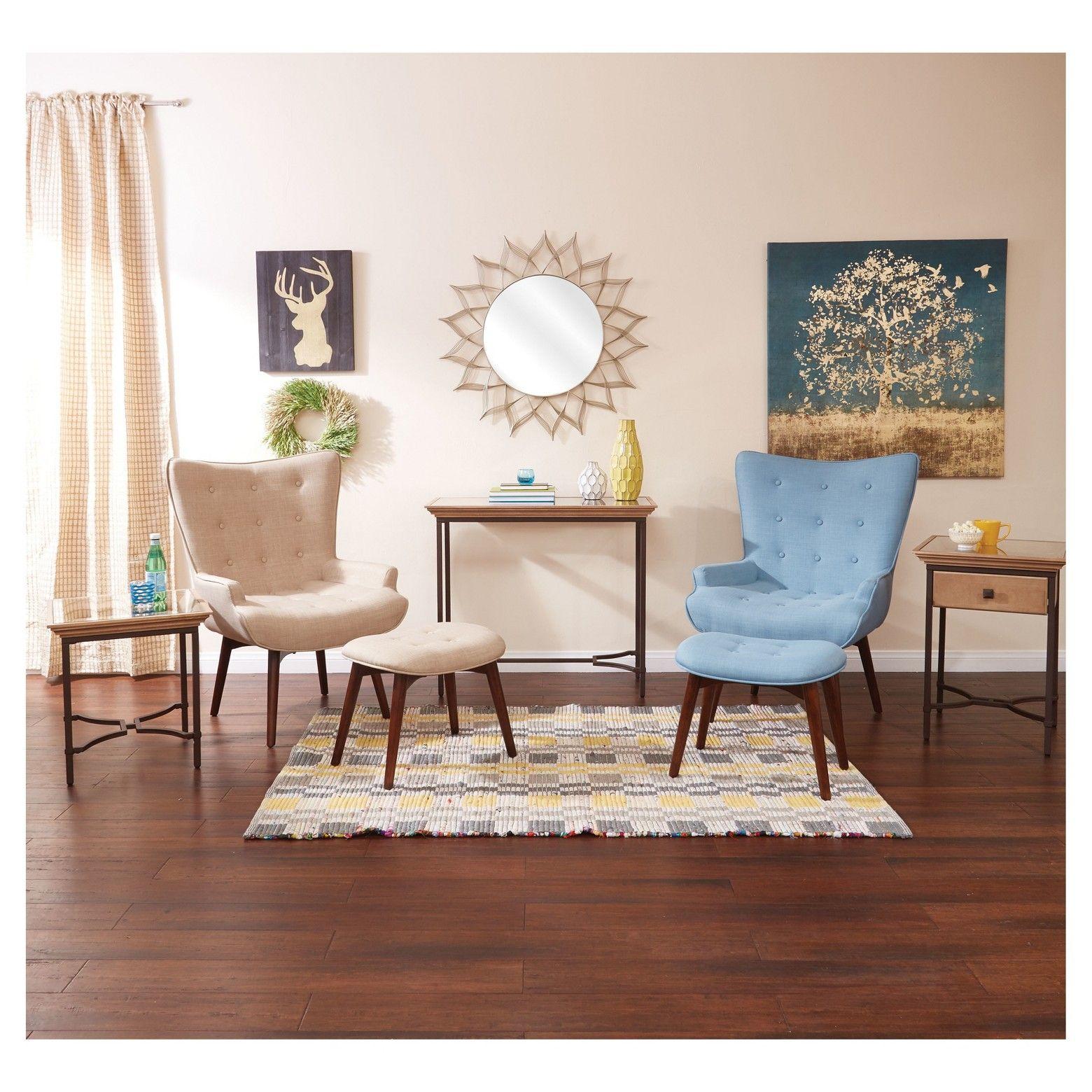 modern vintage bedroom ideas%0A INSPIRED by Bassett Dalton Chair  u     Ottoman  Ave Six  Modern vintage vibes