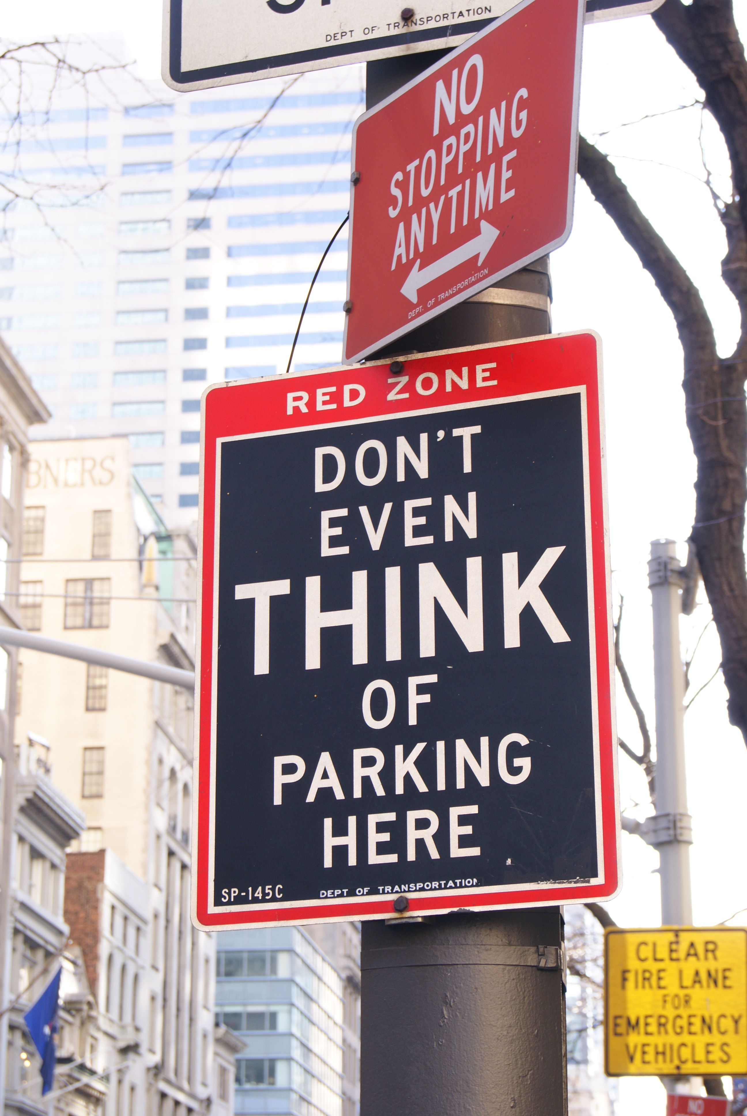 NYC  No Parking, NY-style  If you decide to think of it