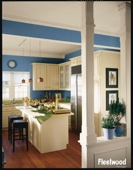 10 Kitchen And Home Decor Items Every 20 Something Needs: Kitchen Painted In Fleetwood Paint's Odyssey.