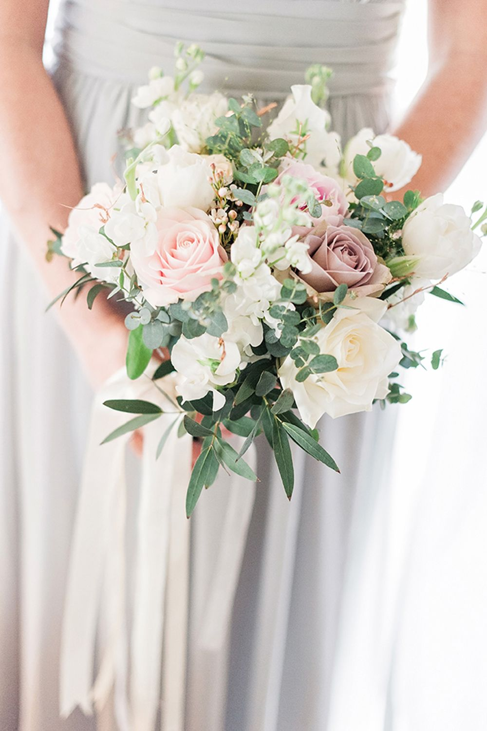 Edmondsham House Wedding Pretty Blush Pink & Gold Relaxed Garden #weddingbridesmaidbouquets