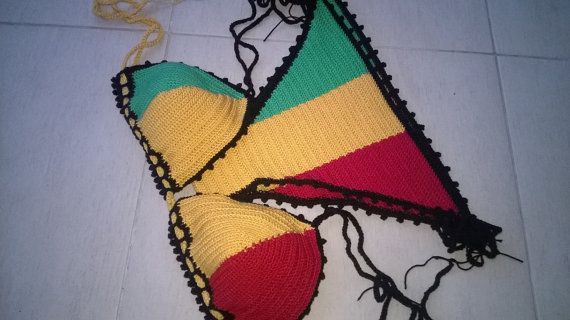 56605d50af059 Swim set Jamaica Crochet swimwear Reggae Style by Coloredmood
