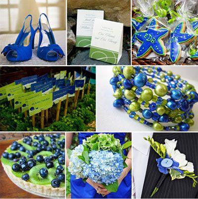 Blue & Green Ideas. The Kiwi Blueberry Pie looks like a great idea ...