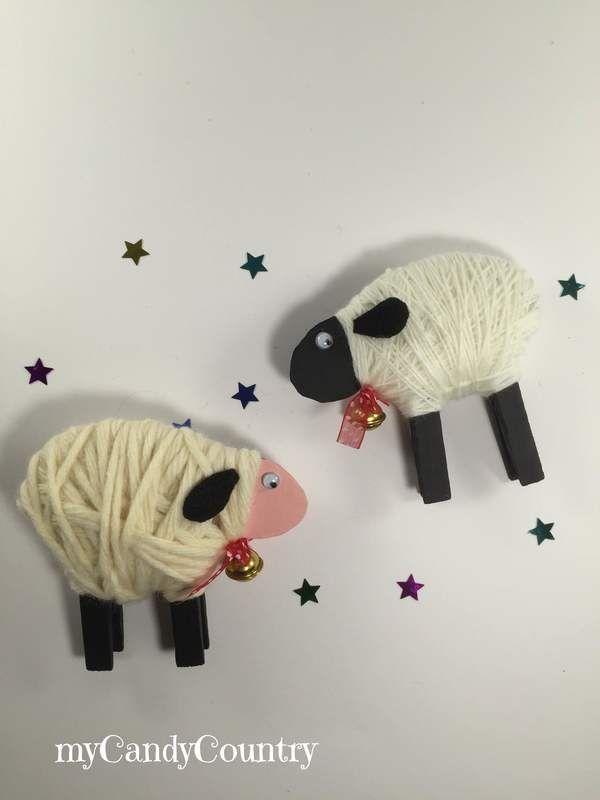 Pasqua Creativa: pecorelle fai-da-te con mollette del bucato
