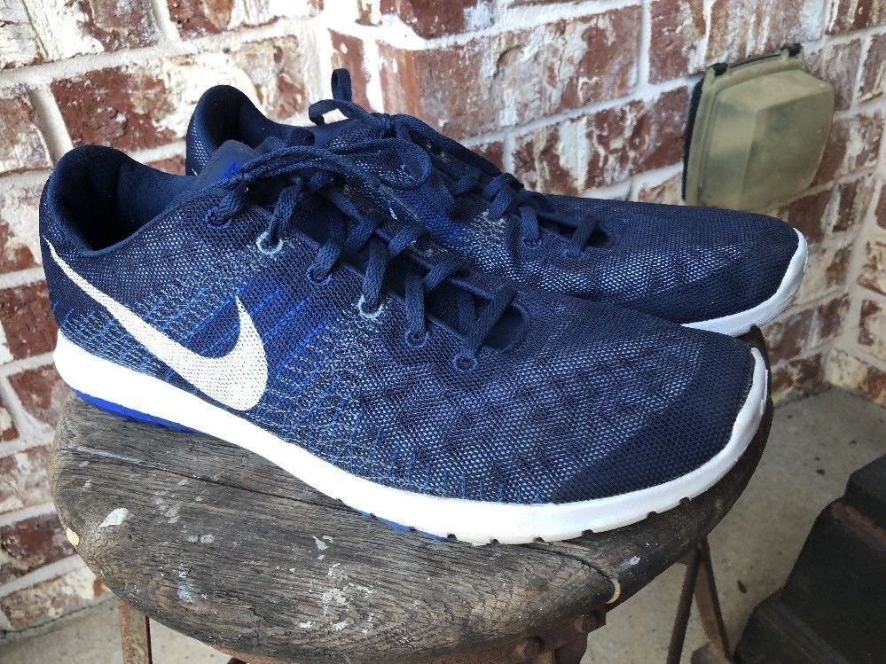 0343cb0271013f Nike Fitsole Navy Blue   White Lightly Used Clean Size 11.5 US Nice Shoes   fashion