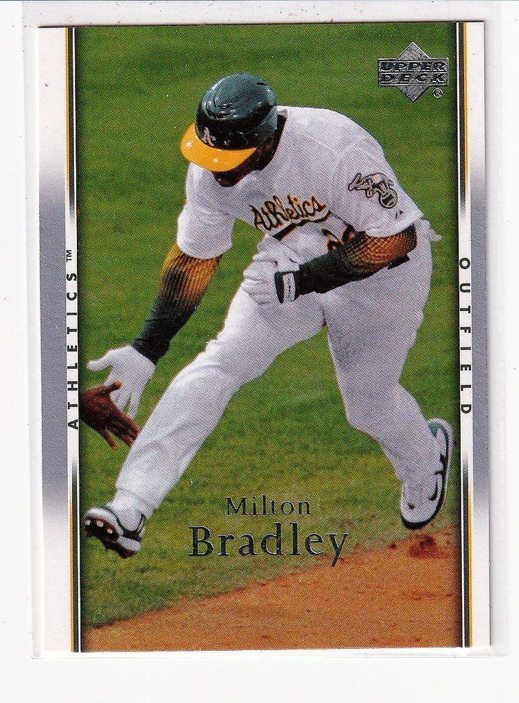 Baseball Trading Cards Milton Bradley Baseball Trading Cards Oakland Athletics Baseball Baseball