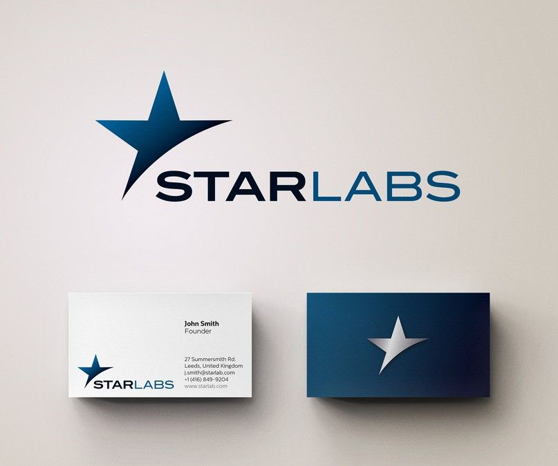 Create A Capturing Logo Business Card Design For Star Labs By Djica Business Card Logo Design Business Card Design Business Card Logo