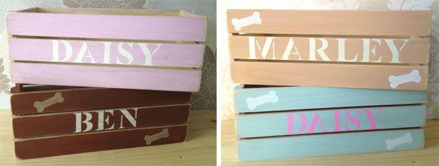 Personalised Wooden Dog Toy Box Storage Box Uk Dog Stuff