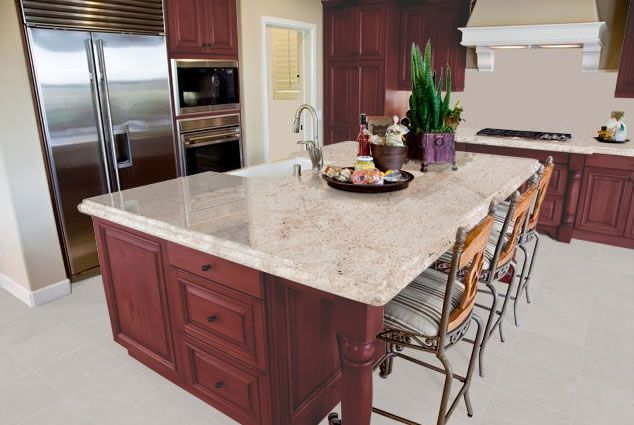 Best Granite Colors For Cherry Cabinets. A Kitchen Design That Features  Cherry Cabinets Tends To