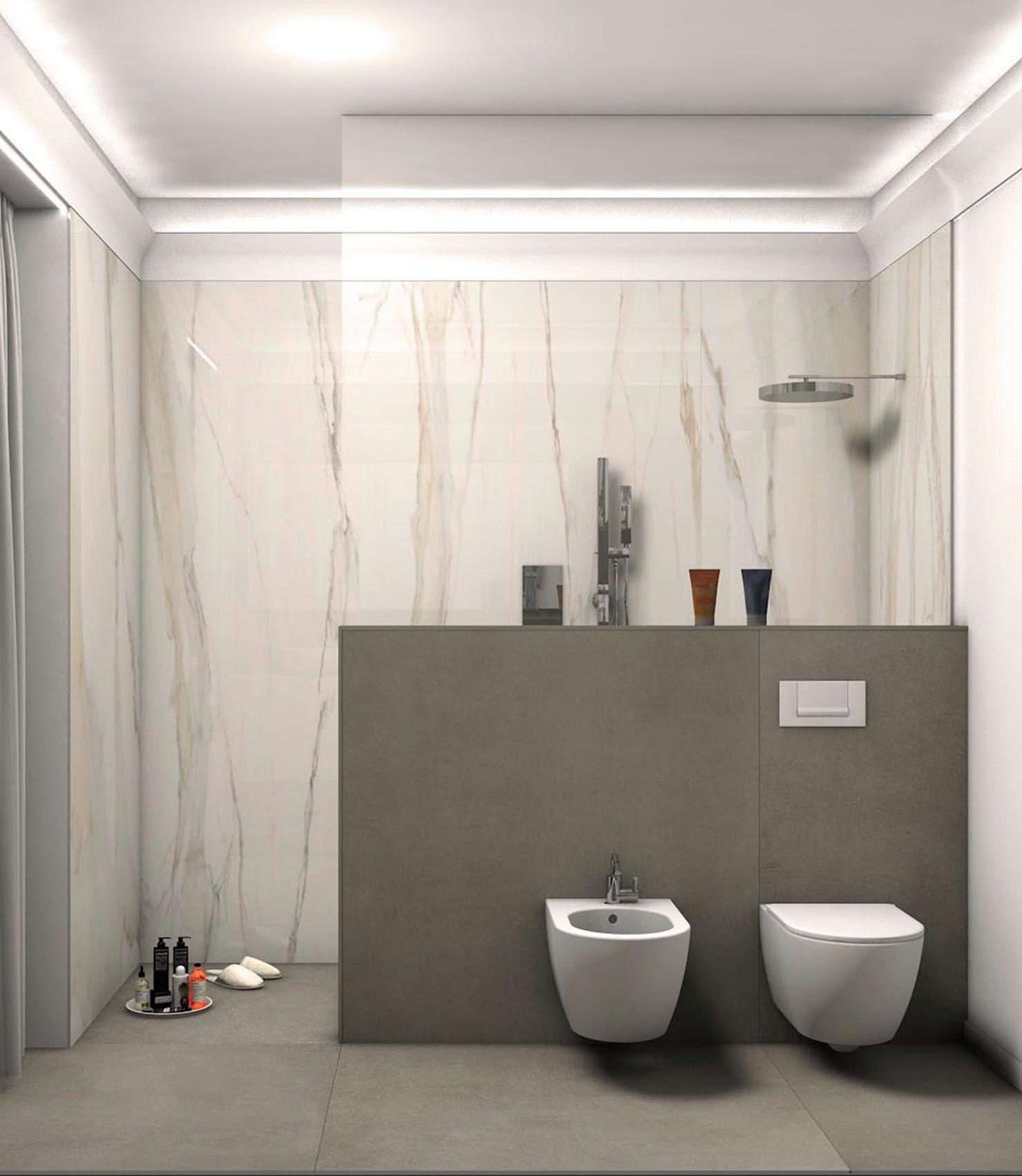 Il lato doccia del bagno bagno in stile classico di