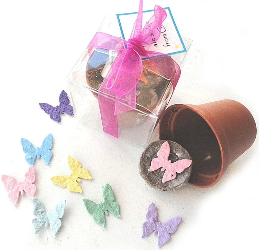 unusual wedding shower favors%0A Nature Favors Unique Wedding Favors Party Favors Gifts  Butterfly Seed  Garden Gift Set