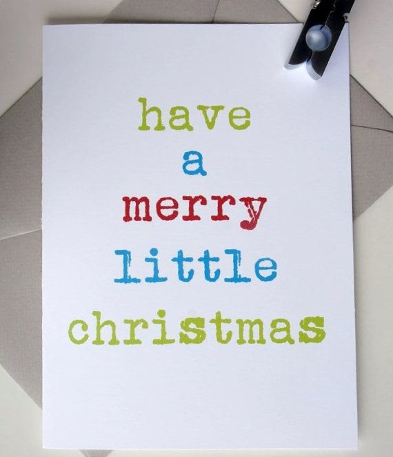 Christmas Cards / Merry Little Christmas / Typewriter by WriteHere