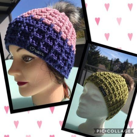 Mütze Häkeln Waffelstich Häkeln Diy Hats Crochet Hats