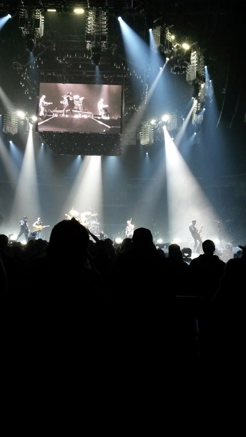 Eric Church at Hamilton Nov. 14,2014 From the Floor area third row from the pit.