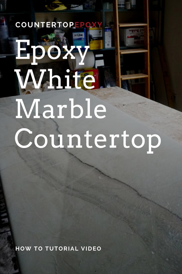 Epoxy White Marble Countertop Tutorial Video Eco Friendly 100