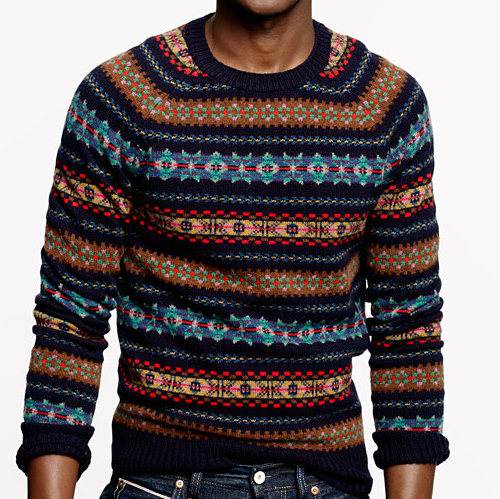 Lambswool fair isle crew sweater Product Image | Fashion ...