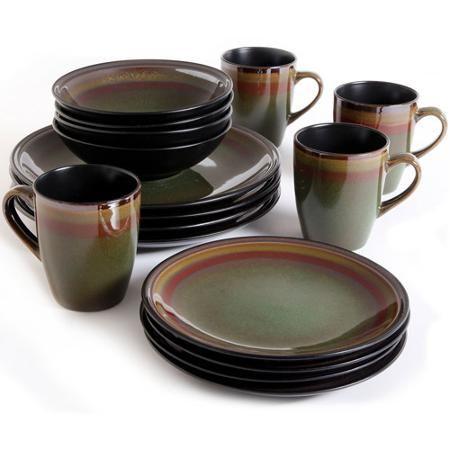 gibson studio casa havana 16 piece dinnerware set round walmart rh pinterest com