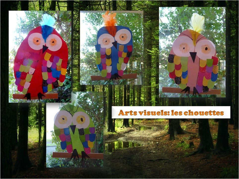 Maternelle arts visuels les chouettes laclassedelena arts visuels classe pinterest - Activite manuelle elementaire ...