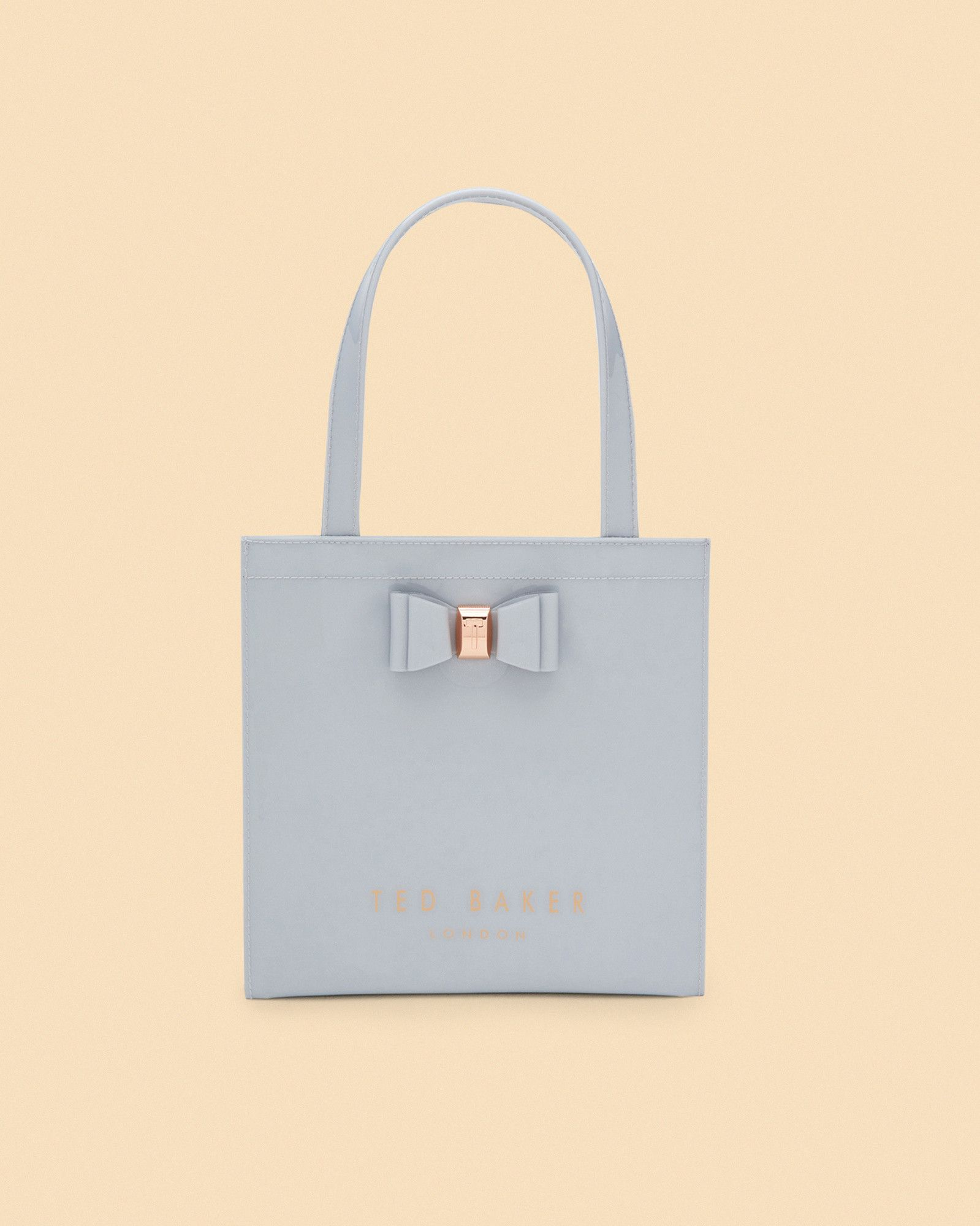 03b7aced4 Ted Baker Bow detail small icon bag Light Grey
