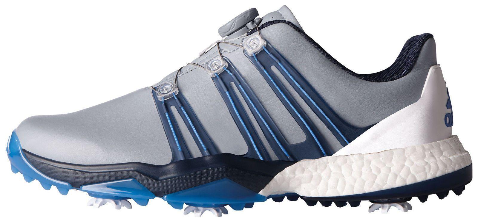 Adidas powerband boa impulso scarpe da golf q44770 grey / slate / esplosione