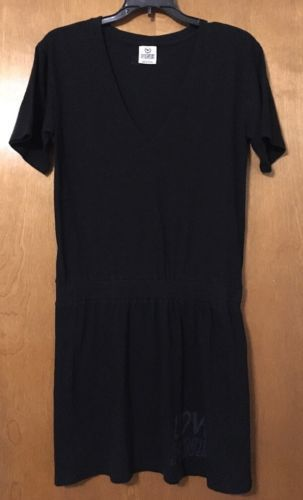 #LastMinute - Victoria Secret PINK V Neck Dress Medium Black Beach Summer Spring Break  http://dlvr.it/NFvjHY - http://Ebaypic.twitter.com/06APQizqt3