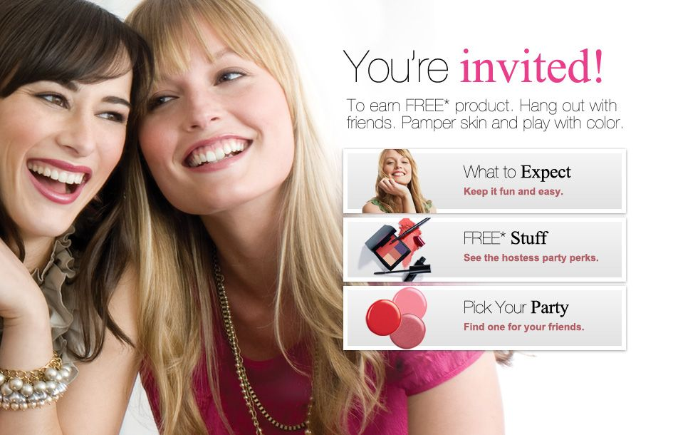 Host an Online MK Party the month of March and the MK Roll Up bag – Mary Kay Party Invitation