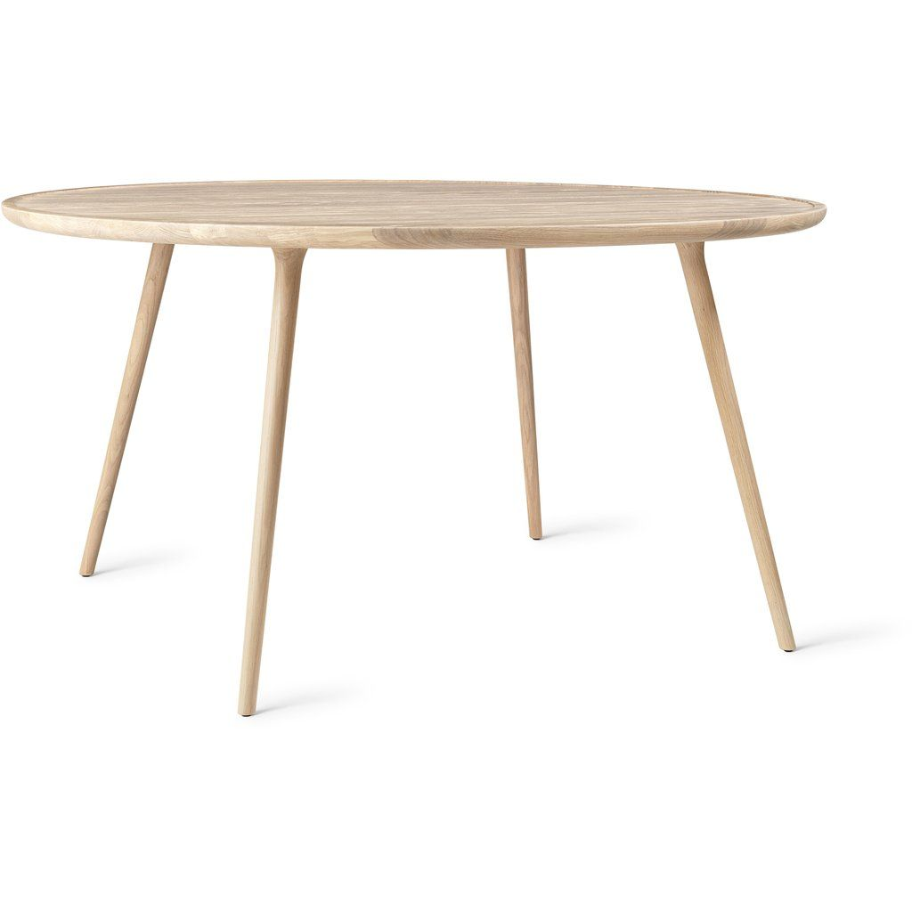 Mater Accent Dining Table Matte Lacquered Oak With Images