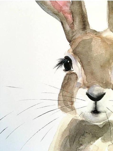 Photo of Honey Bunny Watercolor PRINT