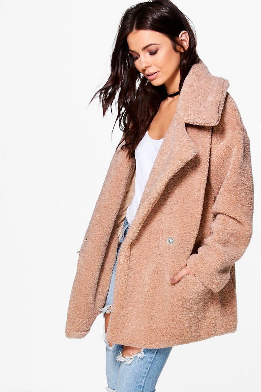 a3d0346b4bcad Petite Lara Faux Fur Teddy Coat   2017   Teddy coat, Coat, Teddy ...