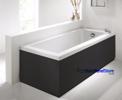 Top Quality Bathroom 18mm MDF High Gloss Black 2 Piece Bath Panels These are Top Quailty British Made Bath panels in a High Gloss Finish made with