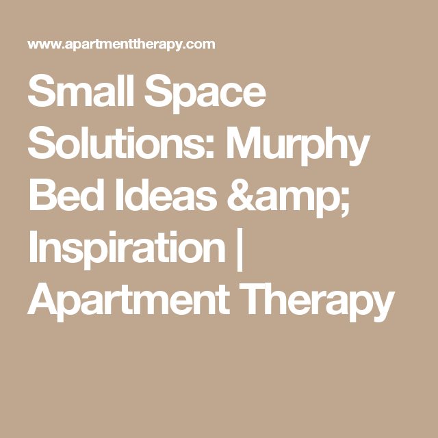 Small Space Solutions: Murphy Bed Ideas & Inspiration   Apartment ...