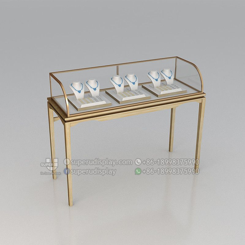 Custom Luxury Glass Jewellery Shop Display Counter Vitrine For Retail Shop Store Display Design Jewelry Shop Display Store Display Design Luxury Jewelry Shop