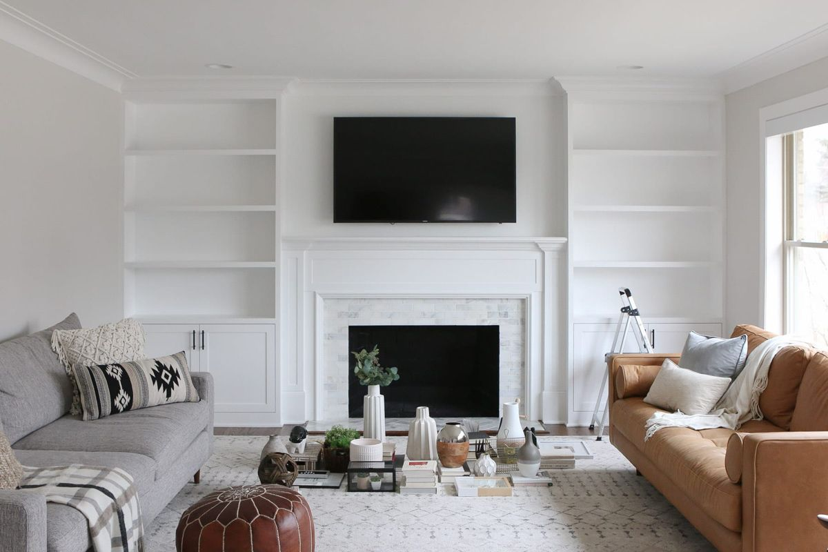 The Dos And Don Ts Of Decorating Built In Shelves The Diy Playbook Built In Shelves Living Room Shelf Decor Living Room Living Room Built Ins