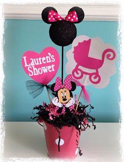 12 Ideas de chupeteros y centros de mesa para una fiesta de Minnie Mouse ~ Mimundomanual