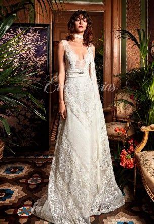 vestido de novia de yolancris colección 2017 modelo trebol en eva