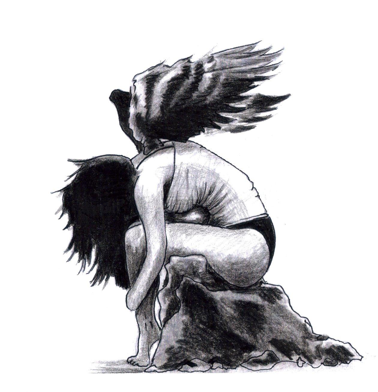 Fallen angel ii other world pinterest angel sketches and fallen angel ii altavistaventures Gallery